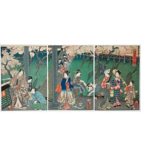 toyokuni III utagawa, spring season, the tale of genji