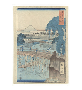 Hiroshige I Utagawa, Mount Fuji from Ikkoku Bridge in Edo, Thirty-six Views of Mount Fuji