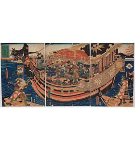 yoshitora utagawa, battle of dannoura, japanese history