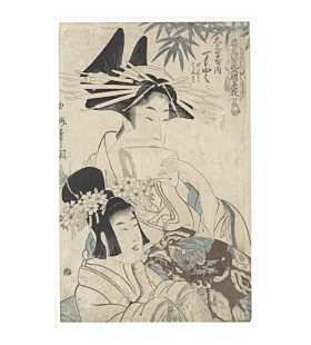Hakuga Koikawa, Courtesan from Daimonji Tea House, Edo Beauty