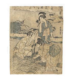Choki Eishosai, Harvesting Crops, Edo Era