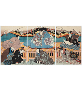 toyokuni III utagawa, kabuki theatre, traditional art