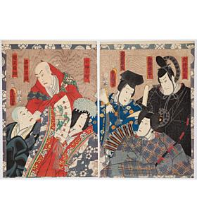 toyokuni III utagawa, kabuki actors, theatre