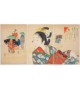kiyochika kobayashi, The Kanbun and Genroku Period, Patterns of Flowers