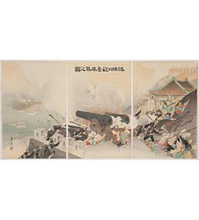 gekko ogata, battle of port arthur, meiji war, senso-e