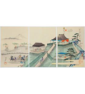 chikanobu yoshu, Observing the Hunt in Koganegahara, The Outer Palace of Chiyoda