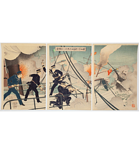 ginko adachi, war triptych, chinese navy, battleship