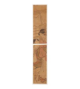 choki eishosai, hashira-e, pillar print, courtesans