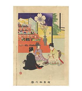 shuntei miyagawa, girls day, hina matsuri, kimono design, japanese culture, tradition, meiji era