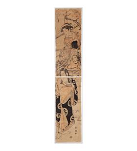 toyokuni I utagawa, kabuki, fox, hashira-e
