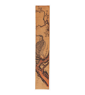 utamaro kitagawa, hawk, plum tree, hashira-e