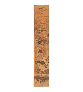 eishi chobunsai, seven lucky gods, hashira-e pillar print