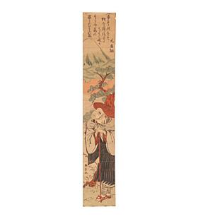 katsushige utagawa, poet, mount fuji, hashira-e