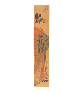 Choki Eishosai, Courtesan Hanaogi from Ohgiya, Hashira-e