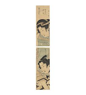japanese woodblock print, japanese art, edo period, hashira-e, vertical print
