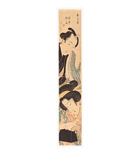 hashira-e, pillar print, couple, eizan kikugawa, edo period