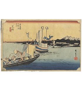 hiroshige ando, japanese woodblock print, japanese antique, ukiyoe