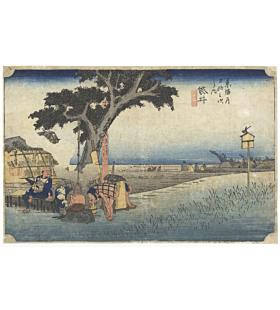Hiroshige I Utagawa, Fukuroi, The Fifty-three Stations of the Tokaido, Japanese Woodblock Print