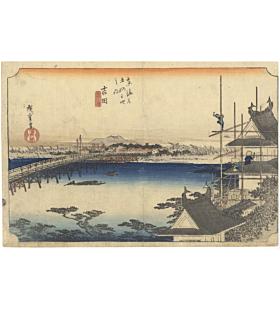 hiroshige ando, The Fifty-three Stations of the Tokaido 東海道五十三次, landscape