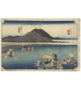hiroshige ando, The Fifty-three Stations of the Tokaido 東海道五十三次, fuchu, japan travel