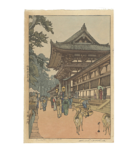 hiroshi yoshida, Daibutsu Temple Gate, shin-hanga, showa period