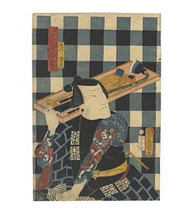 japanese woodblock print, japanese art, japanese antique, irezumi, japanese tattoo, kabuki actor, carpenter, edo period