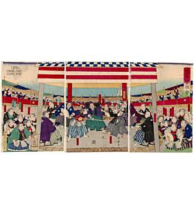 kuniteru II utagawa, sword fighting, kendo