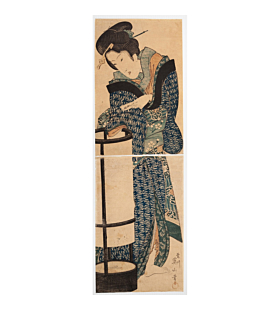 eizan kikugawa, beauty, paper lantern