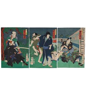 kuniteru utagawa, kabuki actors, theatre play