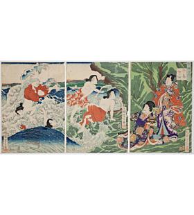 yoshitoshi tsukioka, Enoshima, Kogafuchi, Genji in the Present Day(今様げんじ)