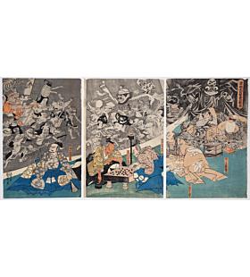 Kuniyoshi Utagawa, The Earth Spider Conjures up Demons at the Mansion of Minamoto no Raiko