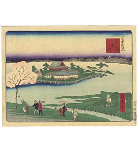 shosai ikkei, shinobazu pond, tokyo, benten shrine