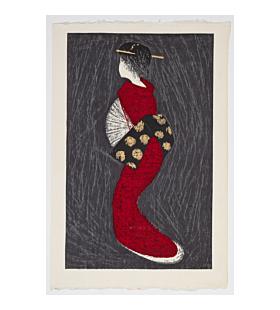 kaoru kawano, Dancing Figure, sosaku-hanga