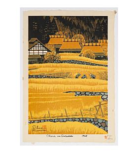 Shiro Kasamatsu, Ohara in Autumn, Landscape, shin-hanga