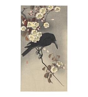 koson ohara, Crow on Cherry Branch, kachoga, bird and flower