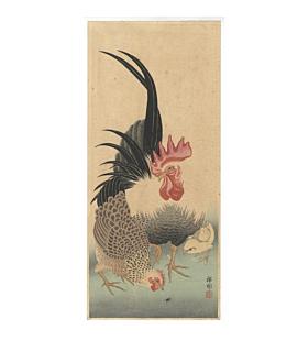 Koson Ohara as Shoso, Rooster Hen Couple