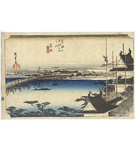 Hiroshige Ando, Yoshida, The Fifty-three Stations of the Tokaido