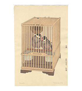 Toshi Yoshida, Buncho, Java Sparrow
