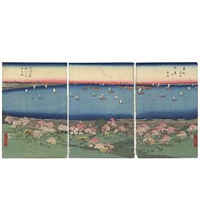 Hiroshige I Utagawa, Cherry Blossoms at Gotenyama, Shinagawa