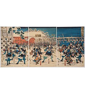 hiroshige I utagawa, faithful samurai, The Revenge of the Forty-seven Ronin