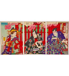kochoro, Kabuki Play, Otokodate Uwasa no Sukeroku, meiji era