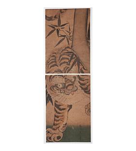 Eizan Kikugawa, Tiger and Bamboo, Kakemono-e