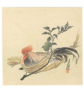 gekko ogata, rooster, bird print