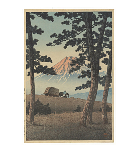 hasui kawase, mount fuji, landscape, shin-hanga