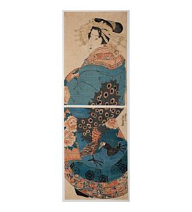 eisen keisai, Beauty Looking Back, kimono design, japanese fashion