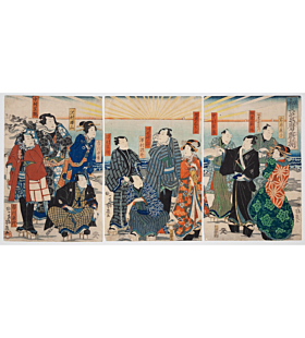 Yoshiiku Utagawa, Kabuki Play, Theatre Actors