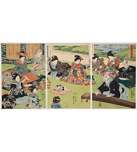 kuniyoshi utagawa, Koto Performance at the Inner Palace
