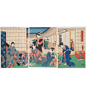 Toyokuni III Utagawa, Genji and Beauties