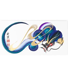 tetsuya abe, ink painting, japanese dragon