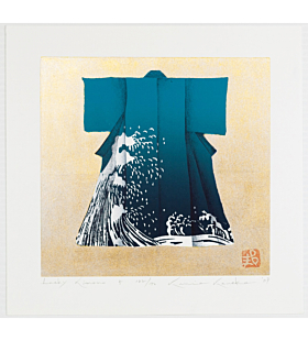 kunio kaneko, lucky kimono, wave pattern, japanese fashion, contemporary art